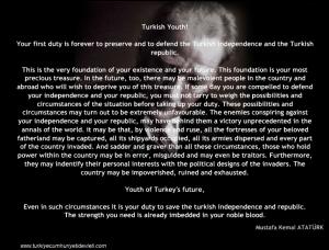 Turkish Youth, Ataturk